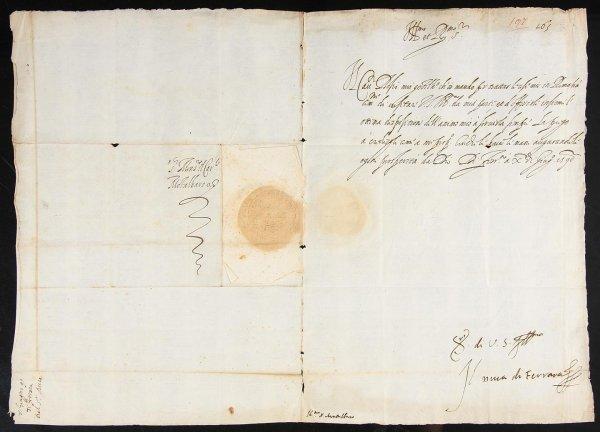 2004: Signed Letter from Alphonse II d'Este from 1590