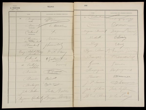 2014: Collection of 39 Signatures from Salon of 1888