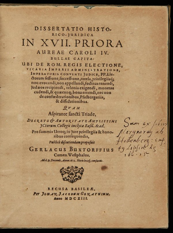 2022: Volume of early 17th century judicial works