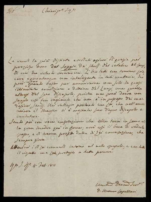 2113: Letter signed by Pope Gregory XVI 1815