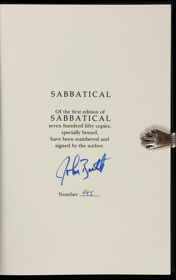 4006: 3 Signed, Limited First Editions by John Barth