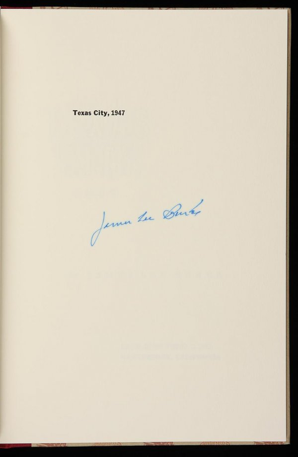 4022: James Lee Burke Texas City, 1947 1 of 275
