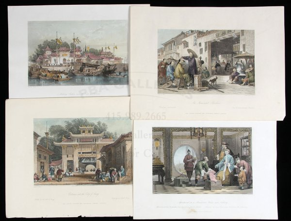 2: Collection of 83 engraved plates, 4 are colored
