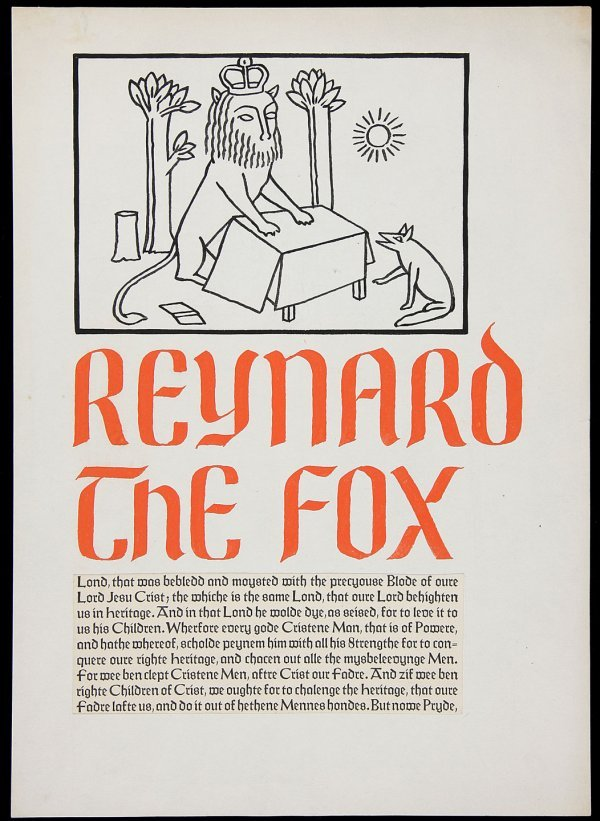 7: Drawing of Reynard the Fox by Valenti Angelo