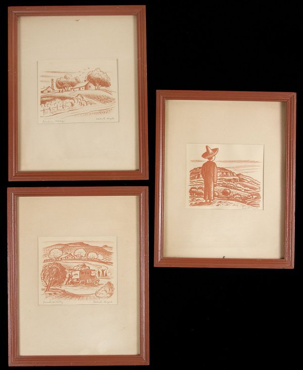 11: 3 Lithograph from Paradise Valley Valenti Angelo