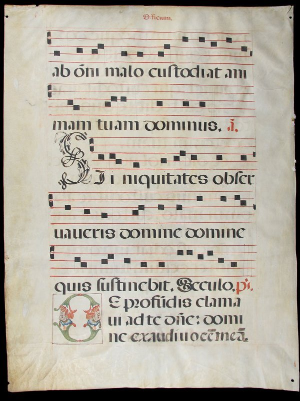14: 3 Antiphonal Leaves from the Book of Psalms