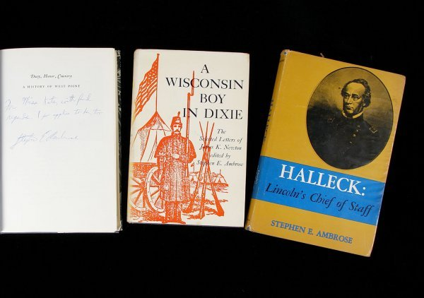 1002: Four volumes inscribed and signed by Ambrose