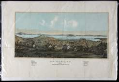 LIthograph of San Francisco in 1852