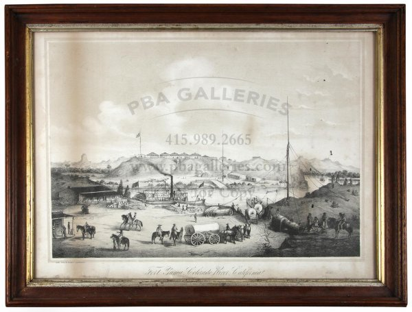 1020: Lithograph View of Fort Yuma California