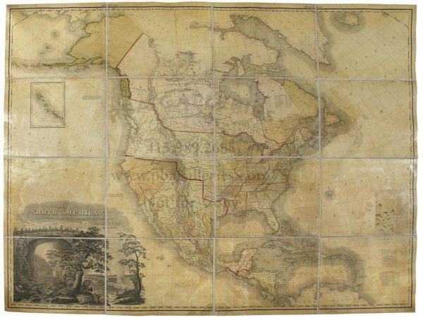 1360: Tanner's large map of North America 1825