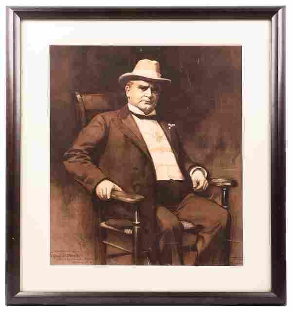 Lithograph portrait of William McKinley