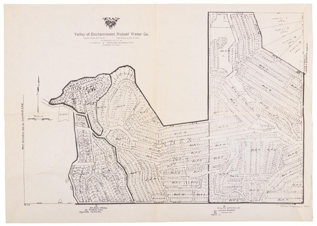 Cadastral map of Crestline, San Bernardino Co., Cal.