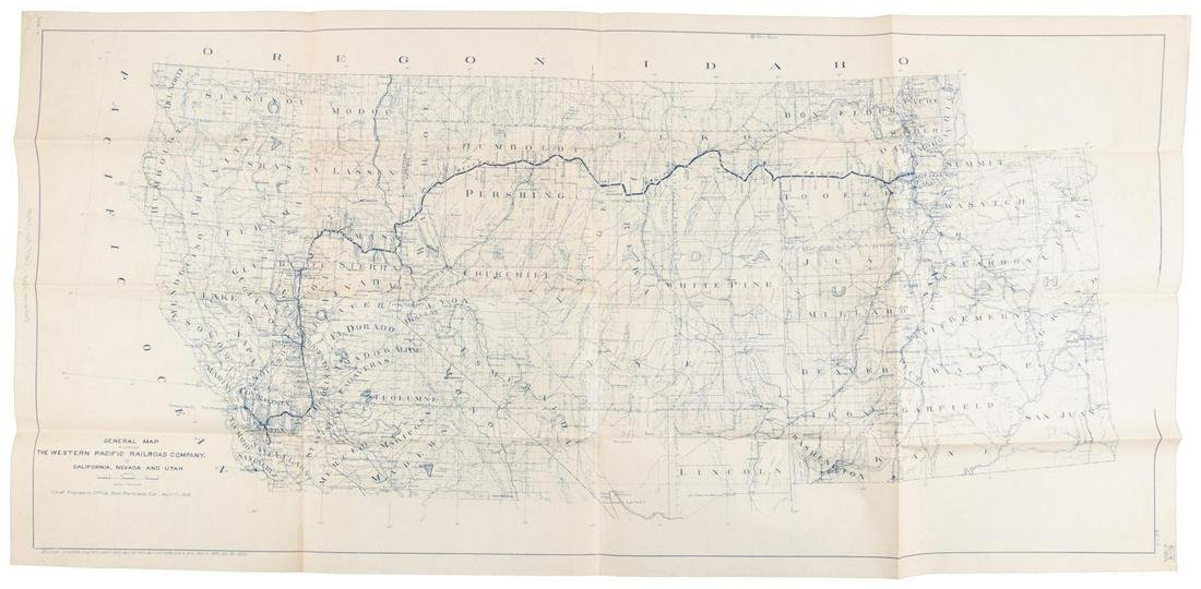 Western Pacific RR from Salt Lake to California 1922