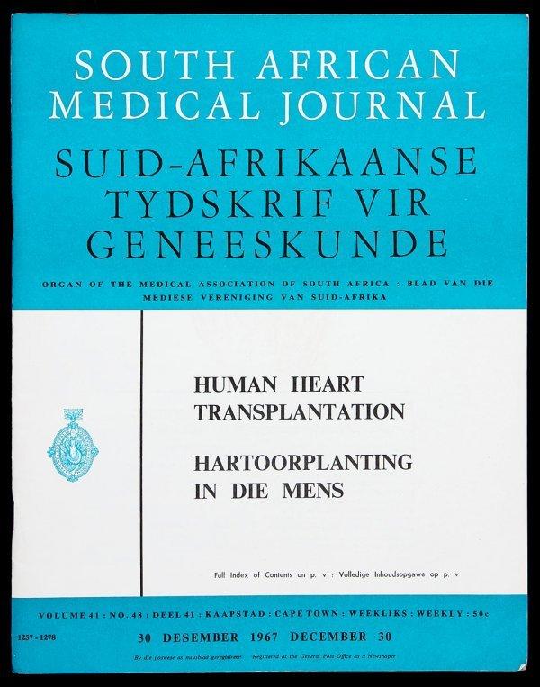 2011: Human Cardiac Transplant by Dr. Barnard 1967