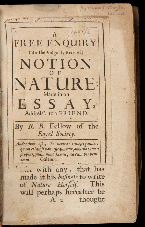 2024: Boyle's Inquiry into Nature 1685/6