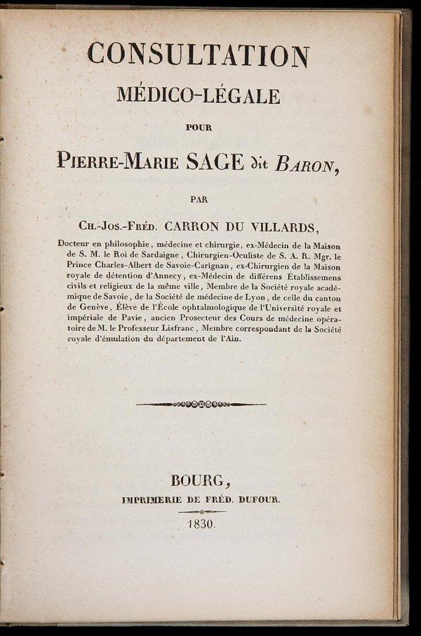 2035: Carron du Villards Consultation Medico-Legale