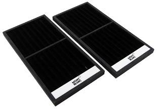 Two Large Black Pen Display Trays