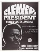 Eldridge Cleaver runs for President as Black Panther