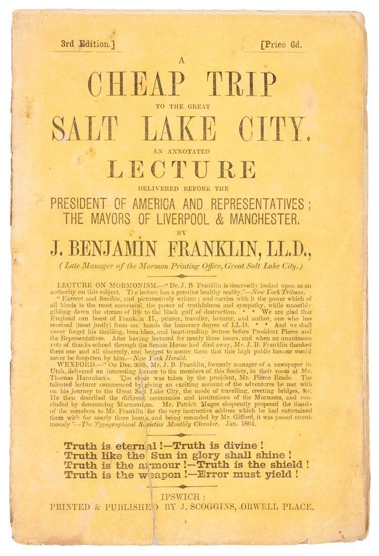 Salt Lake City on the cheap, 1864