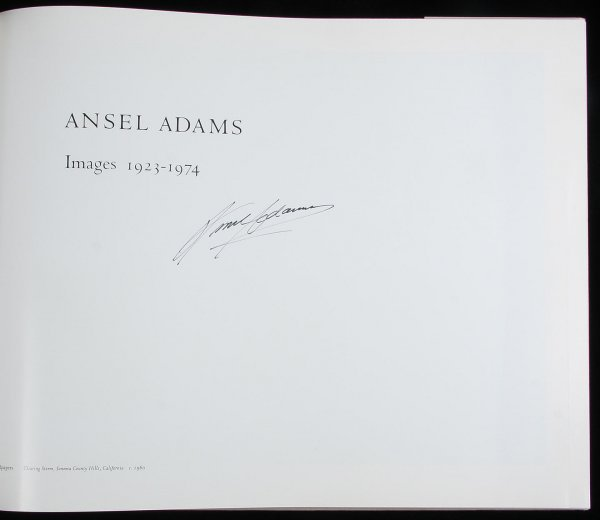 4459: Ansel Adams Images 1923-1974 Signed