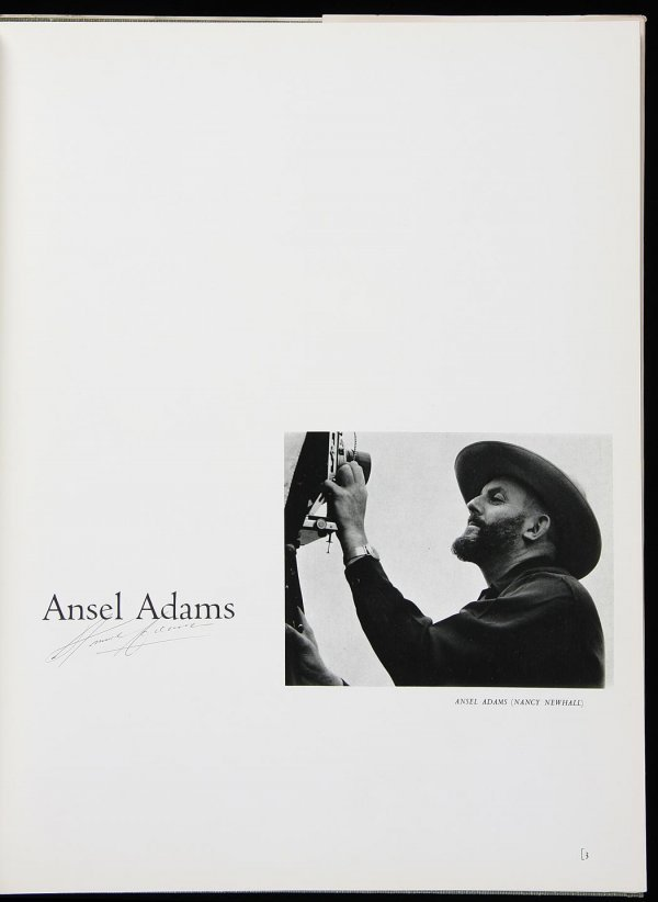 4466: 2 vols with photographs by Ansel Adams Signed