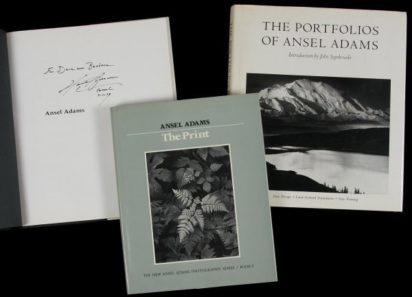 4467: 3 titles by Ansel Adams, each inscribed