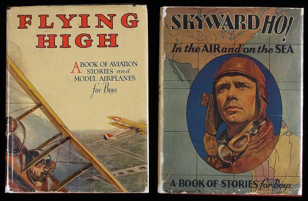 3009: Two volumes of aviation stories for boys