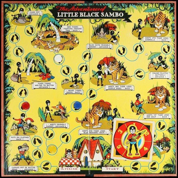 3011: Little Black Sambo Board Game 1956