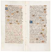 Finely Illuminated pages from a Book of Hours