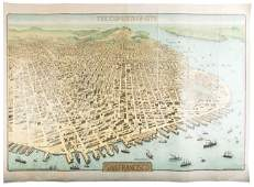 Rare view of San Francisco & planned P.P.I.E. 1912