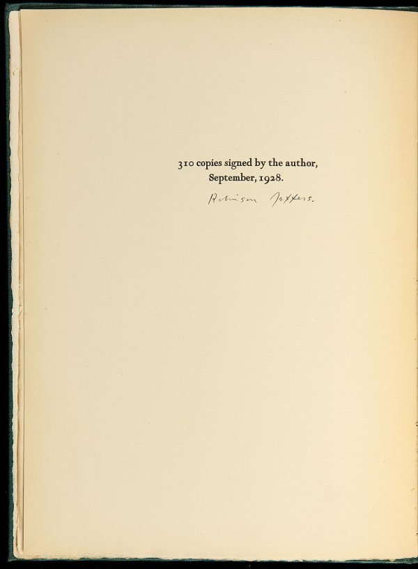 1: Robinson Jeffers Poems Signed by Ansel Adams