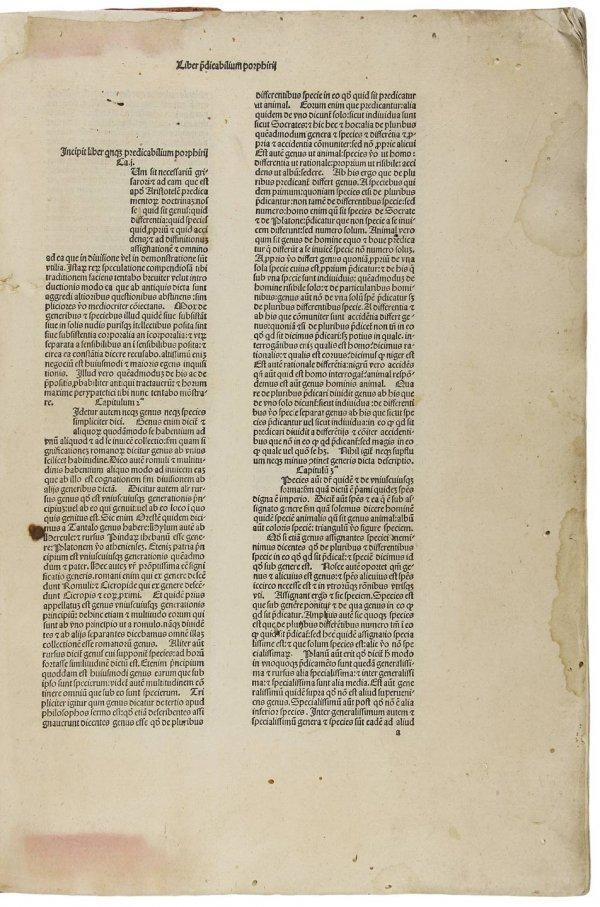 11: Aristotle's Organon 1483 in Grand Format
