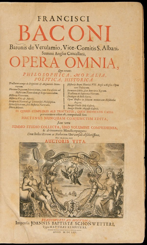 12: Francis Bacon Opera Omnia 1665