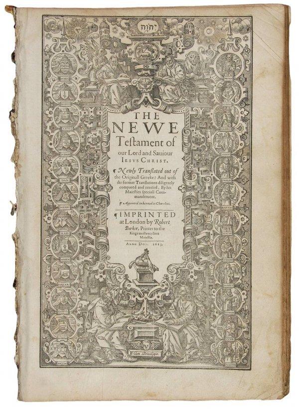 18: 1613 folio King James Bible Four Gospels