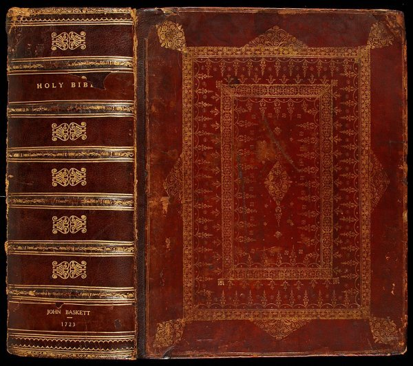 19: Bible with J. Cole's historical engravings 1723