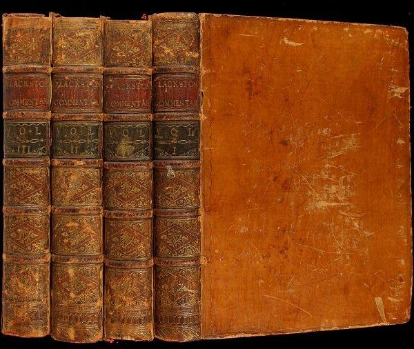 20: Blackstone's Commentaries 4th Edition 1790