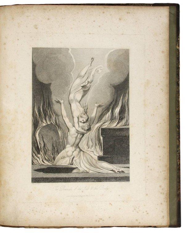 21: The Grave 1808 William Blake Engravings folio ed.