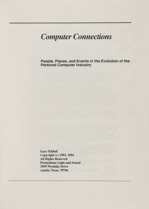 88: Gary Kildall's Computer Connections 1/50