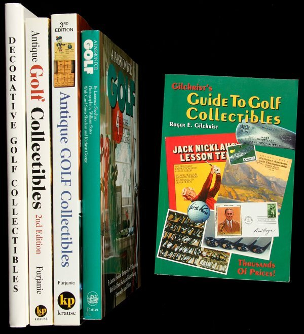 4: 5 books on golf collectibles