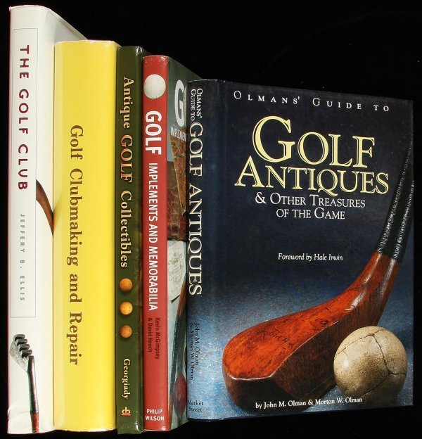 5: five volumes on collecting golf antiques or clubs