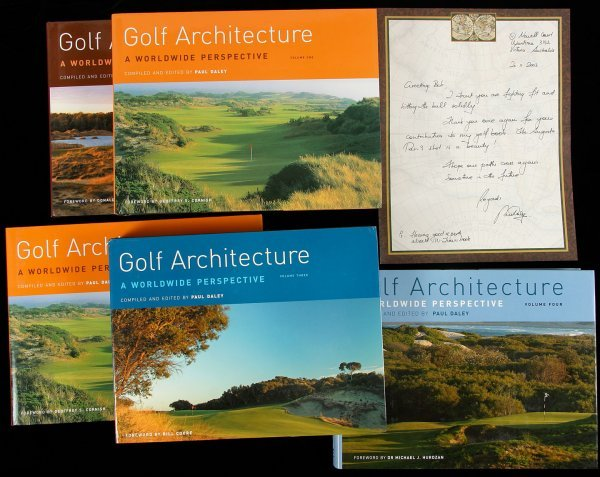 7: 4 volume set on Golf Architecture by Paul Daley