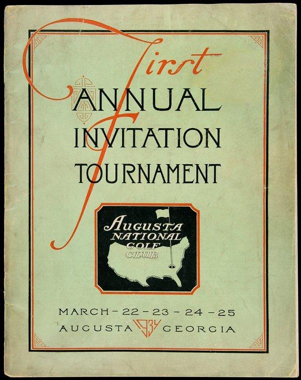 12: First Annual Augusta National Golf Club Program