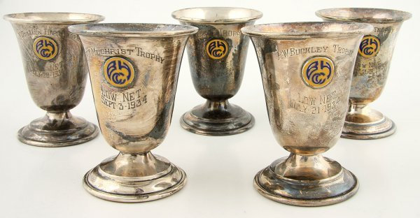 16: Eleven sterling silver trophy cups