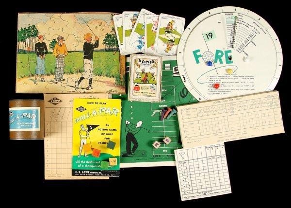 22: vintage golf board games 1946-1964