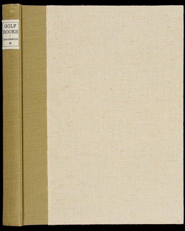 23: Bonjernoor, Golf Books: Additions..Ltd Ed leather