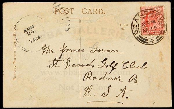 25: James Braid Golf Postcard with St. Andrews cancel