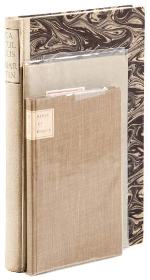 Three volumes of poetry from Harry Duncan's Abattoir