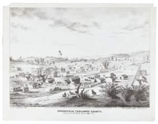 Pictorial lettersheet showing Springfield, Tuolumne