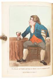 Colored aquatint plates of inebriated Britons, 1792