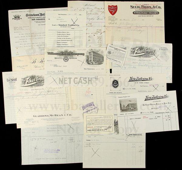 11: Archive of San Francisco clothiers, tailors, etc.